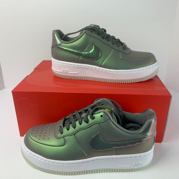 Nike Air Force 1 Upstep PRM LX Dark Stucco Green